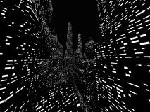 Großstadtnachtszene übertragen Stockfotografie