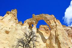 Grosvenor Arch double arch, Cottonwood Canyon Road in Grand Staircase Escalante National Monument, Utah, United States. USA royalty free stock images