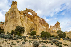 Grosvenor Arch. With Utah Juniper Trees, Grand Staircase-Escalante National Monument, Utah Royalty Free Stock Photos