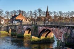 Grosvenor-Brücke Chester Cheshire Großbritannien Lizenzfreie Stockbilder