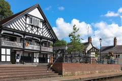 Grosvenor rowing club. Chester. England royalty free stock image