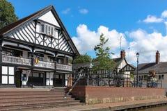 Grosvenor Ruderclub. Chester. England Lizenzfreies Stockbild