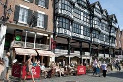 _Grosvenor winkelen centrum, brug straat, Chester, Cheshire, UK royalty-vrije stock afbeeldingen