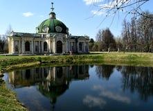 Grot in de manor van Telling Sheremetyev, Kuskovo, Moskou stock fotografie