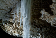 Grot della caverna di Golubinskaya Immagine Stock Libera da Diritti