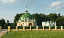 Grot en Italiaans huis, manor Kuskovo royalty-vrije stock foto