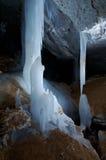 Grot of Golubinskaya Cave. Arhangelsk region Stock Images