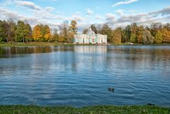 Grota pawilon Tsarskoye Selo Petersburg Rosja Fotografia Stock