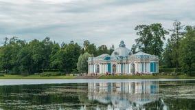Grota pawilonu timelapse w Catherine parku przy Tsarskoye Selo Pushkin, St Petersburg, Rosja zdjęcie wideo