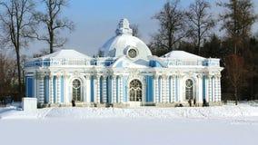 Grota turyści w Pushkin mieście i pawilon zdjęcie wideo