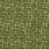 Grote 3d geeft van de groene vloer van de mozaïekmuur terug stock illustratie