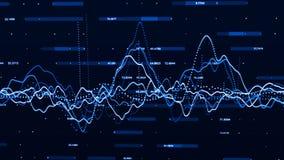 Grote aantallen Grote gegevensvisualisatie het concept van de investeringsgrafiek het 3d teruggeven royalty-vrije illustratie