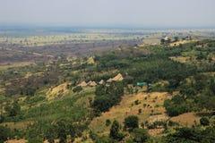 Grote Afrikaanse spleet in Oeganda stock foto's