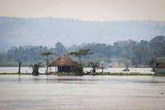 Grote Afrikaanse spleet in Oeganda stock afbeelding
