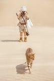 Grote avonturen in woestijn royalty-vrije stock foto