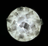 Grote Backlit Zoute Kristallen Royalty-vrije Stock Foto