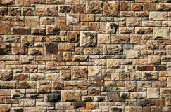 Grote Bakstenen muur stock afbeeldingen