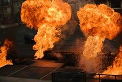 Grote ballen van brand! Royalty-vrije Stock Foto