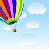 Grote ballon in blauwe hemel Stock Afbeeldingen