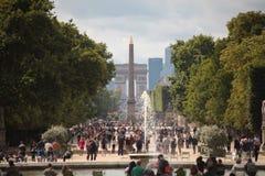 Grote Bassin Rond, Obélisque DE Louxor, Arc de Triomphe Royalty-vrije Stock Foto's