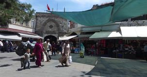 Grote Bazaar in Istanboel stock videobeelden
