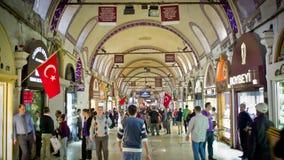 Grote Bazaar in Istanboel, Turkije stock footage