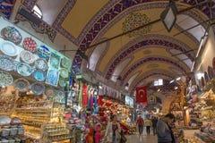 Grote Bazaar Istanboel, Turkije stock afbeelding