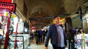 Grote Bazaar in Kerman, Iran stock video
