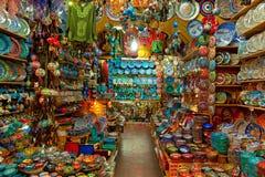 Grote bazaarwinkels in Istanboel. royalty-vrije stock afbeeldingen