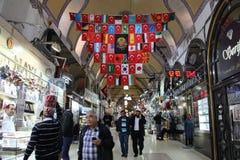 Grote bazaarwinkels in Istanboel Royalty-vrije Stock Fotografie