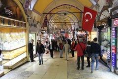 Grote bazaarwinkels in Istanboel Royalty-vrije Stock Afbeeldingen