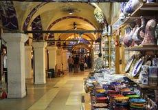 Grote bazaarwinkels in Istanboel Royalty-vrije Stock Foto