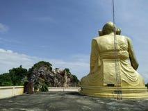 Grote beeldhouwwerkpriester Stock Foto