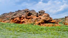 Grote berg Bogdo Rusland astrakan Stock Foto's