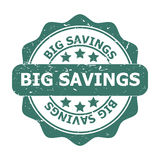 Grote Besparingen stock illustratie
