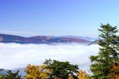 Grote bewolking over de Elzas Mening vanaf bovenkant van de berg royalty-vrije stock foto