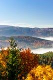 Grote bewolking over de Elzas Mening vanaf bovenkant van de berg royalty-vrije stock fotografie