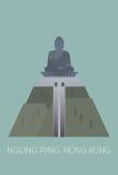 Grote Bhudda in Ngong pingelt Royalty-vrije Stock Afbeeldingen