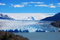 Grote blauwe gletsjer stock foto's