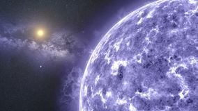 Grote blauwe ster stock illustratie