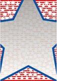 Grote blauwe ster Royalty-vrije Stock Afbeeldingen