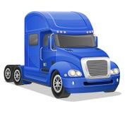 Grote blauwe vrachtwagen vectorillustratie Stock Foto