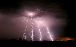 Grote blikseminslag Stock Foto