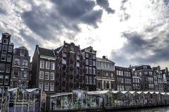 Grote bloemmarkt in Amsterdam Amsterdam Nederland September 2017 Stock Afbeelding
