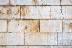 Grote blokstenen doorstane muur Royalty-vrije Stock Foto's