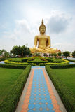 Grote Boedha in Angtong, Thailand Stock Foto