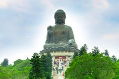 Grote Boedha bij Lantau-Eiland, Hong Kong royalty-vrije stock afbeeldingen