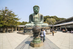 Grote Boedha, Daibutsu, in Kamakura, Japan Stock Afbeeldingen