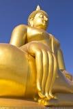 Grote Boedha in de tempel van Thailand Royalty-vrije Stock Afbeelding