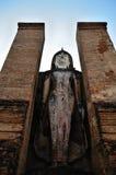 Grote Boedha en hemel hierboven Stock Afbeelding